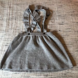 H&M Grey Sweater Skirt Jumper with Ruffle Straps